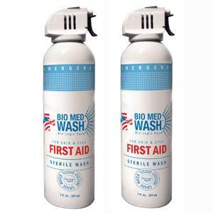 Bio Med Wash Sterile Eye and Skin First Aid Wash | 7 oz (210 ml) Facility Safety - Cleanflow