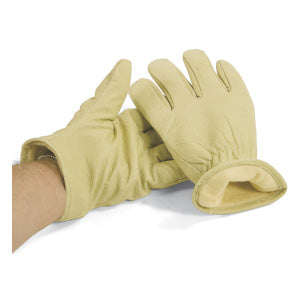 Driver's Fleece Lined Pig Grain Winter Gloves Work Gloves and Hats - Cleanflow