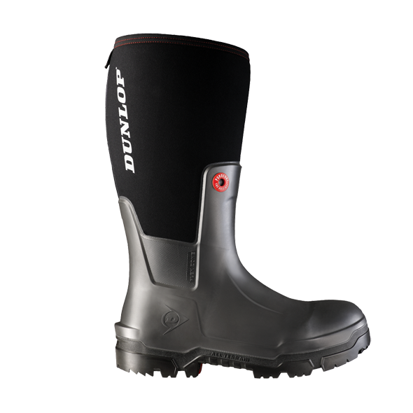 Dunlop Pioneer Plain Toe Snugboot Work Boots - Cleanflow