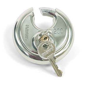 Stainless Steel Disc Padlock - 70mm Shackle - Keyed Alike Facility Safety - Cleanflow