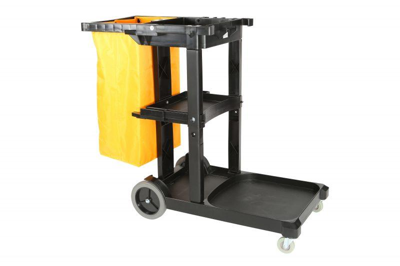 Globe Commercial Products Heavy Duty Premium Janitor's Cart Janitorial Supplies - Cleanflow