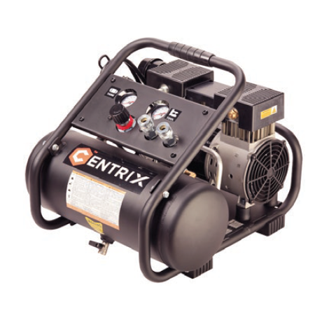 Centrix 1 HP Quiet Technology Air Compressor - 2 Gallon Tank