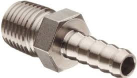 "Stainless Steel Hose Barbs | 1/4"" to 1"" 