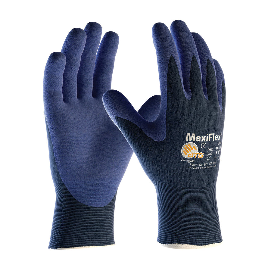 ATG® MaxiFlex® Elite™ Ultralightweight MicroFoam Grip Glove - Pack of 12 Pairs Work Gloves and Hats - Cleanflow