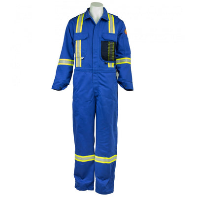 KELTEK 343S Flame Resistant 13oz Premium Coverall | Blue | Sizes 38-60 (HRC 2) Flame Resistant Work Wear - Cleanflow