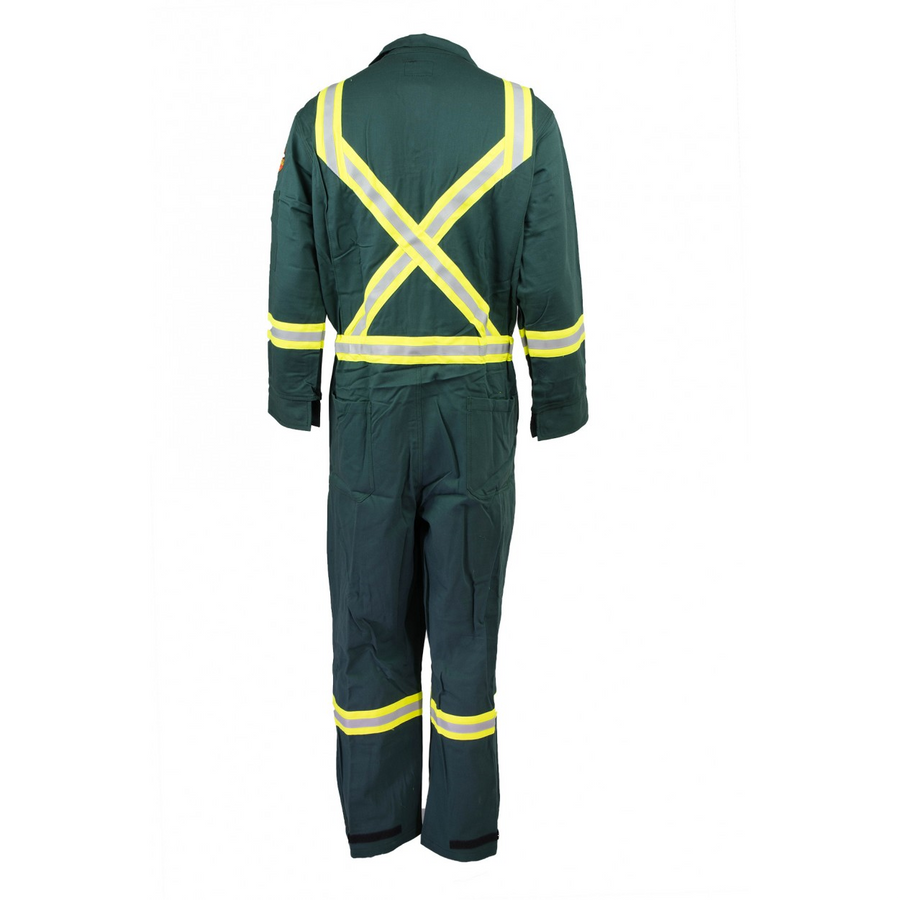 KELTEK 377S 7oz Premium Flame Resistant Coverall | Green | Sizes 34-64 (HRC 2)