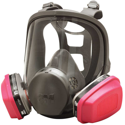 3M 6000 Series Full Face Respirator Face Mask | Small, Medium or Large - Cleanflow