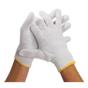 White Knit Poly/Cotton Glove Liners - Pack of 12 Pairs