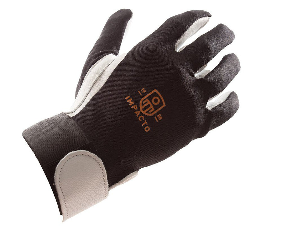 Impacto 403-30 Anti-Impact Pearl Leather Series Full Finger Impact and Vibration Protection Glove Ergonomics - Cleanflow