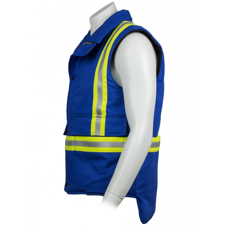 KELTEK 410S Flame Resistant Insulated Vest | Blue | S-4XL (HRC 4)