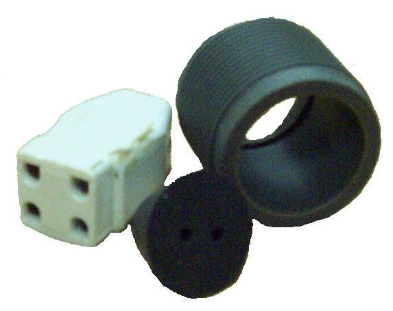 Fischer & Porter UV Lamp Connector Set | Fits F & P 4 Pin UV Lamps