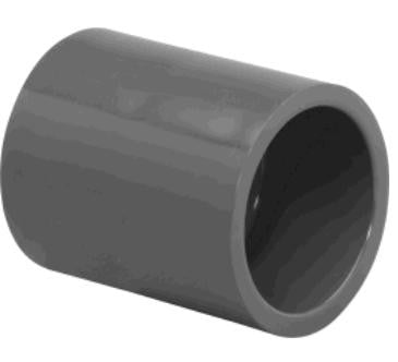 "Lasco 1/2"" to 6"" Schedule 80 PVC Socket Weld Couplings"