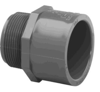 "Lasco 1/2"" to 3"" Schedule 80 PVC Socket x MPT Adapter Couplings"
