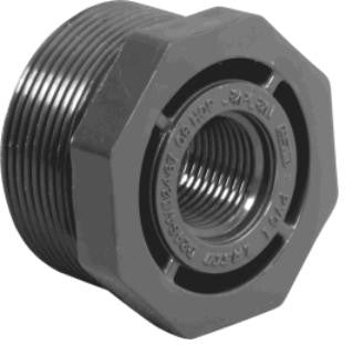 "Lasco 1/4"" to 4"" Sch 80 PVC MPT x FPT Threaded Reducer Bushings"