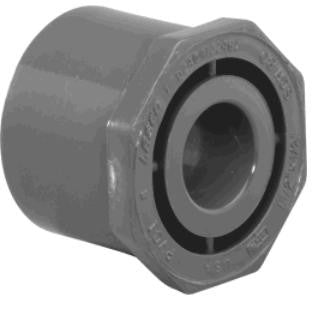 "Lasco Sch 80 PVC Male Spig x Female Sock Reducer Bushings | 1/4"" to 6"""