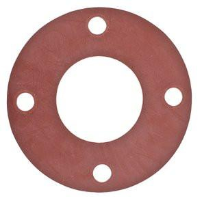 Full Face Red Rubber Pipe Flange Gaskets Fittings and Valves - Cleanflow