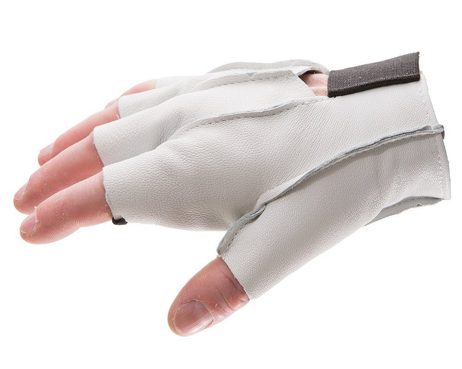 Impacto 460-30 Anti-Impact Pearl Leather Series Half Finger Construction Glove with VEP Impact Protection Ergonomics - Cleanflow