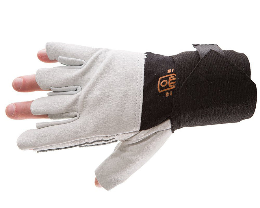 Impacto 479-31 Pearl Leather Trigger Glove w/ Wrist Support (For Power Tool Users) Ergonomics - Cleanflow