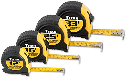 4-Piece Tape Measure Set Hand Tools - Cleanflow