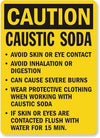 Caustic Soda Safety Sign Facility Safety - Cleanflow