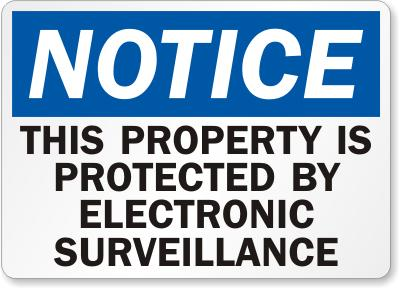 Electronic Surveillance Safety Sign Facility Safety - Cleanflow
