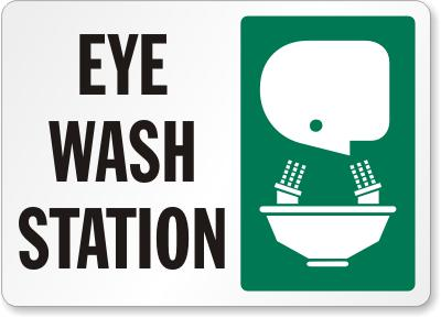 Eyewash Station Safety Signs Facility Safety - Cleanflow