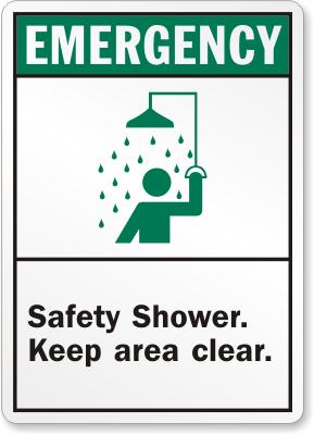 Safety Shower Sign Facility Safety - Cleanflow