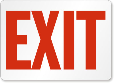 Exit Safety Sign Facility Safety - Cleanflow