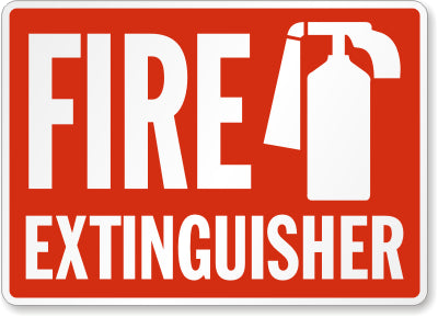 Fire Extinguisher Safety Sign Facility Safety - Cleanflow