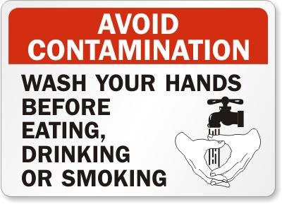 Avoid Contamination Safety Sign Facility Safety - Cleanflow