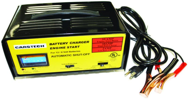 Battery Charger with Auto Shut-Off | 6/12V Automotive Tools - Cleanflow