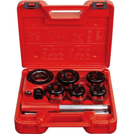 Super Ego 9 Piece Ratchet Pipe Threader Kit | 3/8