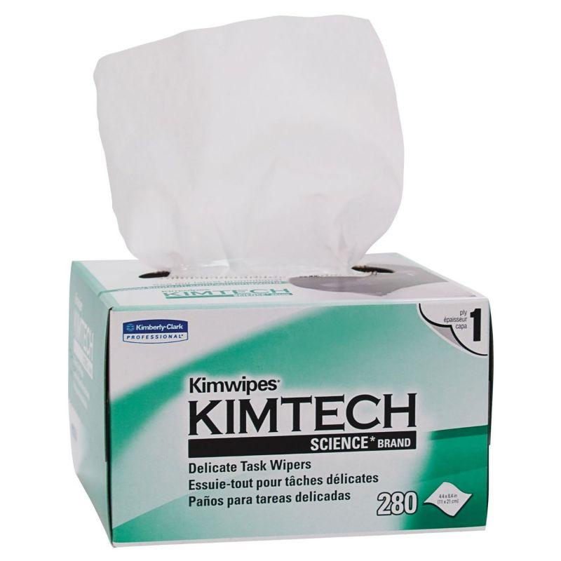 "KimTech Kimwipes 34120 Single Ply Delicate Task Wipers | 8.4"" X 12"""