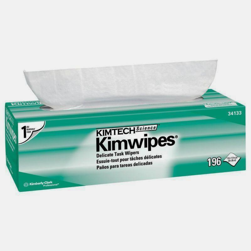 "KimTech Kimwipes 34133 Single Ply Delicate Task Wipers | 12"" X 12"""