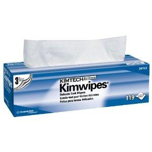 "Kimtech Kimwipes 34743 Three Ply Delicate Task Wipers | 12"" x 12"" 