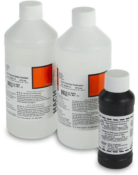Hach 2556900 CL17 Free Chlorine Reagent Set Reagents - Cleanflow