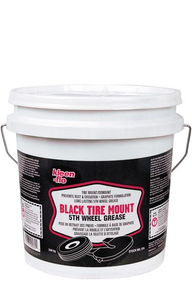 Kleen-Flo Black Tire Mount 5th Wheel Grease Automotive Tools - Cleanflow