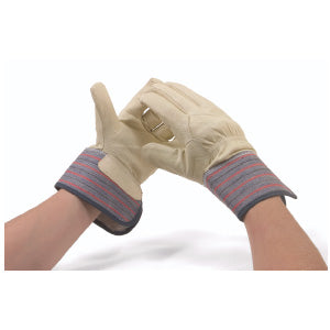 Fleece Lined Pig Grain Winter Work Gloves