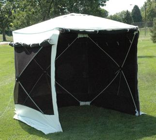 Pelsue SolarShade Hot Weather Work Shelter w/ Reflective Striping Confined Space - Cleanflow