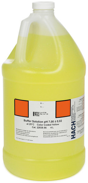 Hach 2283556 Buffer Solution, pH 7.00 (NIST), color-coded yellow, 4L Standard Solutions and Buffers - Cleanflow