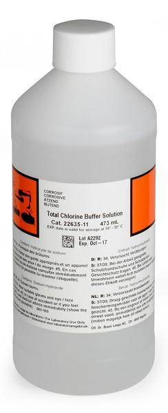 Hach 2263511 Total Chlorine CL17 Buffer Solution, 473 ml Reagents - Cleanflow