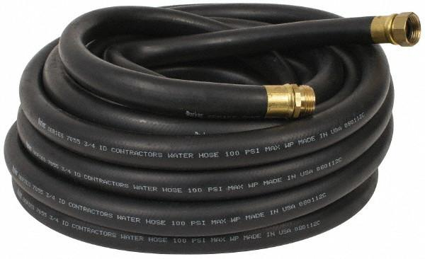 Black Rubber Industrial Garden Hose Assemblies (Hot Water Rated)
