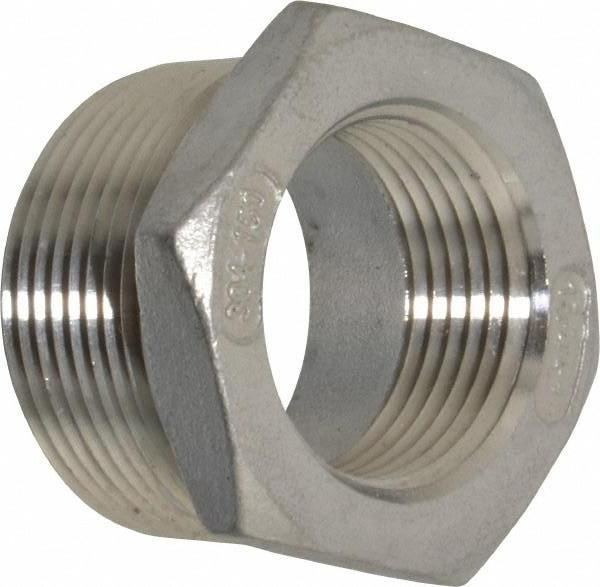 "Stainless Steel Sch 40 Threaded Reducer Bushings | 1/8"" to 4"" Sizes Fittings and Valves - Cleanflow"