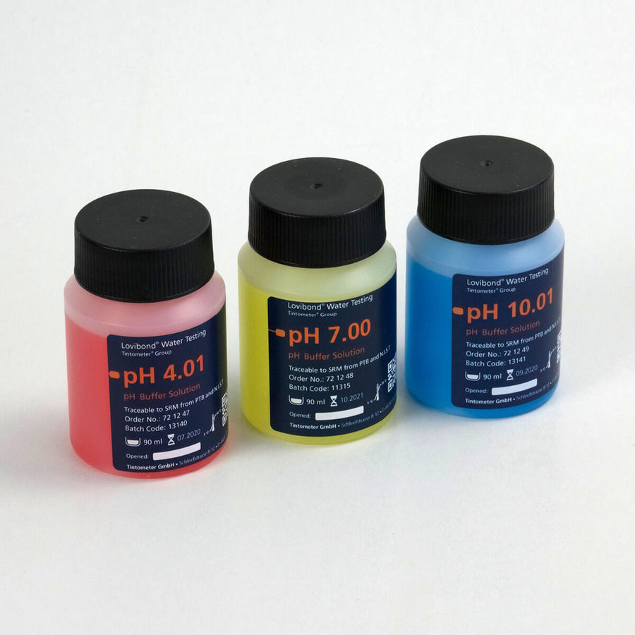 Lovibond pH Buffer Solution Set  | Red Yellow Blue | 90 mL ea