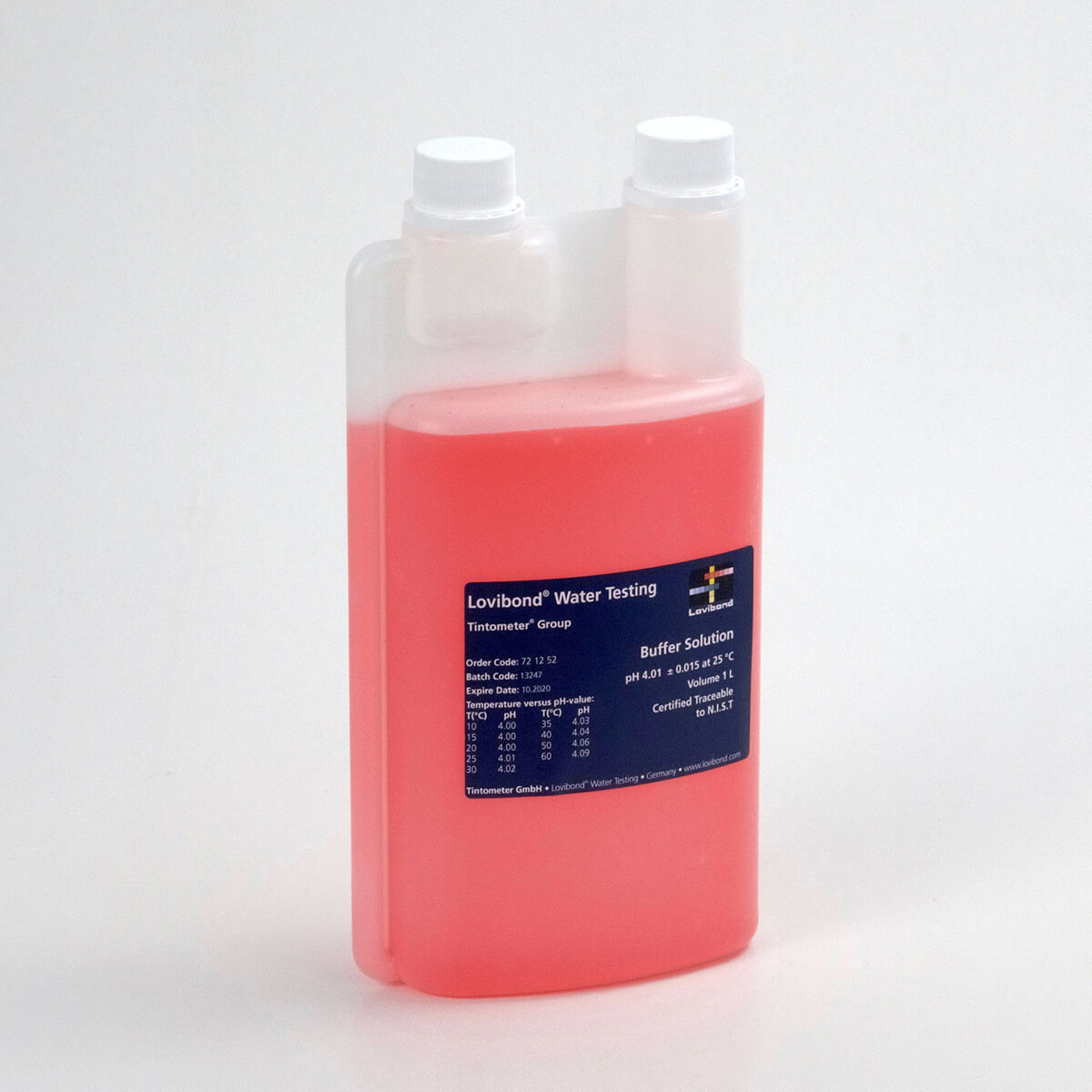 Lovibond pH 4.01 Buffer Solution  | Red | 1 Liter Standard Solutions and Buffers - Cleanflow