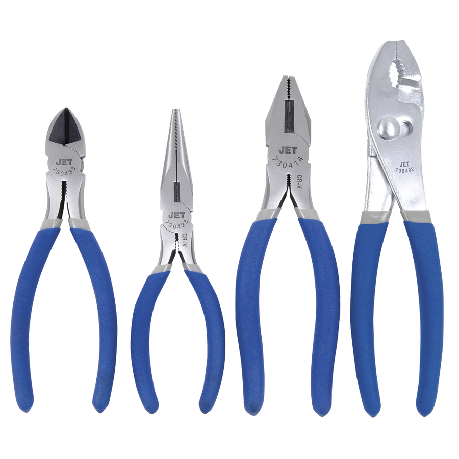 Jet Starter Pliers Set - 4 Piece Mechanic Tools - Cleanflow