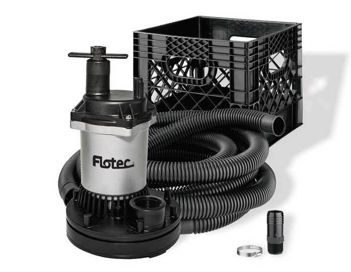 Flotec Stow & Flo All-In-One Utility Pump Kit Dewatering Pumps - Cleanflow