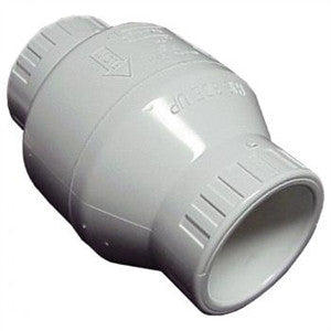 "White PVC Swing Check Valves | 3/4"" to 4"" Sizes Fittings and Valves - Cleanflow"