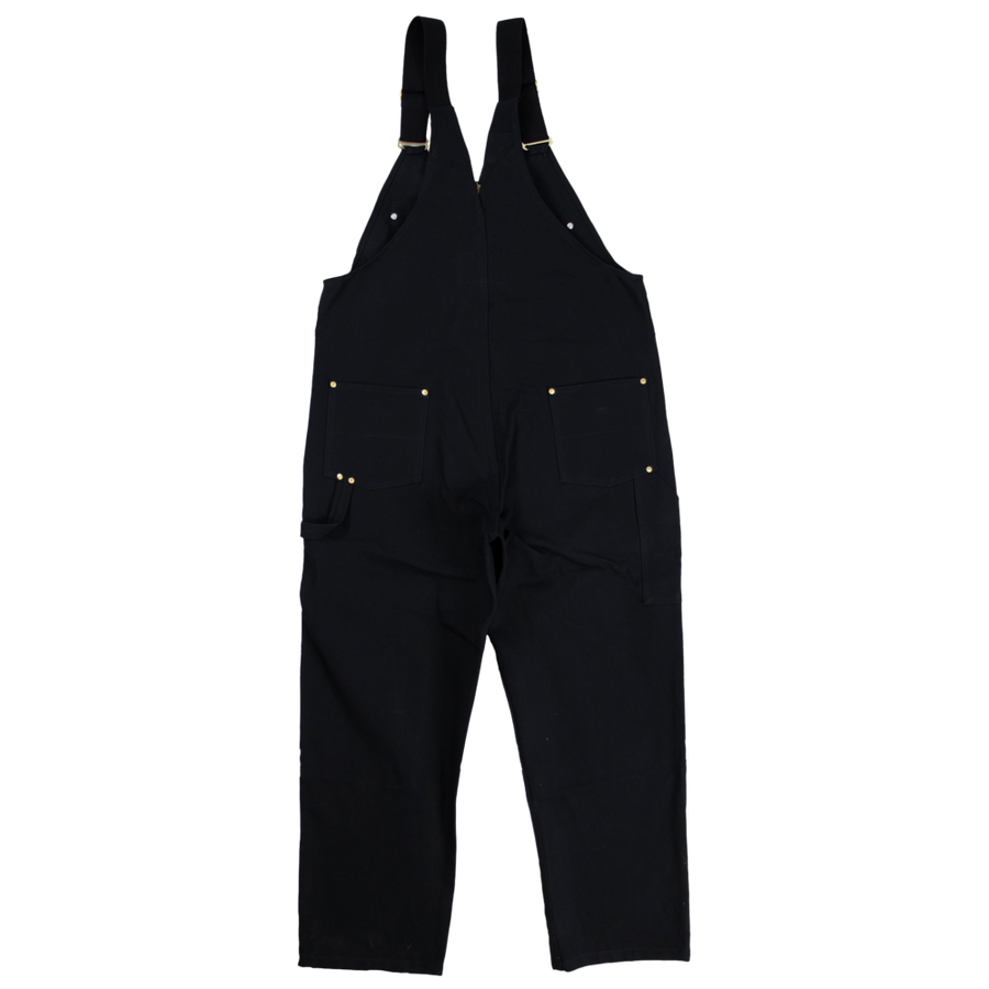 Tough Duck 7637 Heavy Duty Deluxe Unlined Bib Overalls | Black | Limited Size Selection Work Wear - Cleanflow