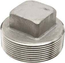 Stainless Steel Square Head Plug Pipe Fitting | 1/8